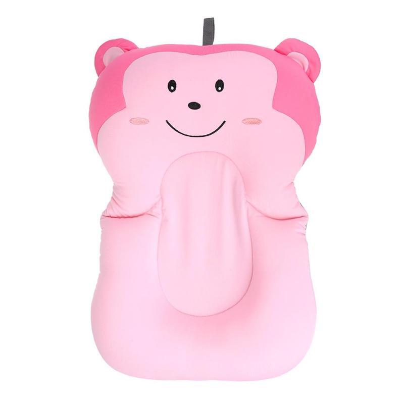 Baby Care Newborn Baby Non-slip Bathtub Mat Cartoon Pink Monkey Pig Safety Bathtub Pad Seat Infant Baby Shower Support Cushion Bath & Shower Product