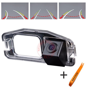 CCD car track camera reversing trajectory for Honda CRV Jazz Fit Odyssey back up reverse parking for GPS car DVD Free shipping image