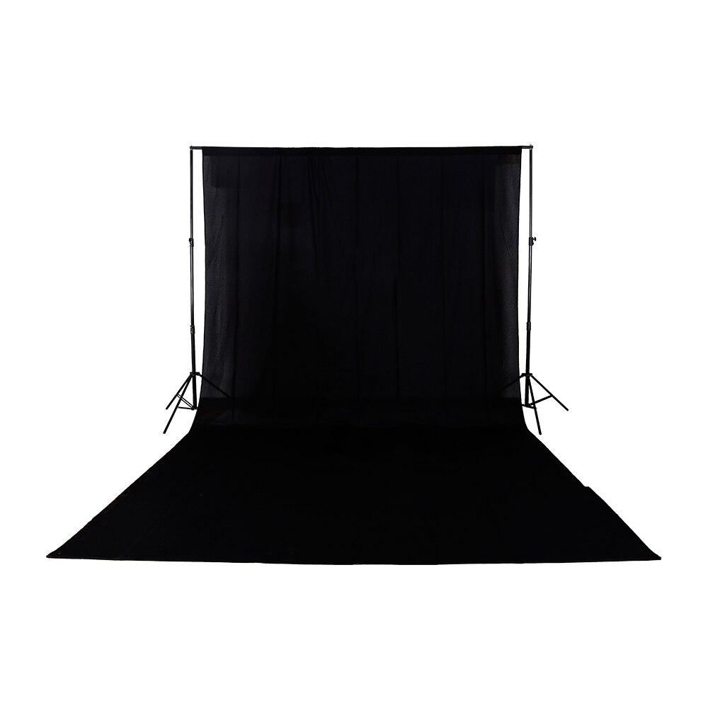 Fond 3 m * 6 m/9.8ft * 19.6ft solide sans couture coton tissu photographie toile de fond noir vert blanc en option