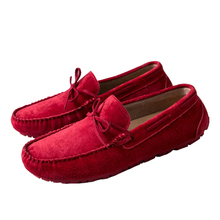 2018 new spring Scrub peas male loafers shoes pedal soft bottom red tide driving men