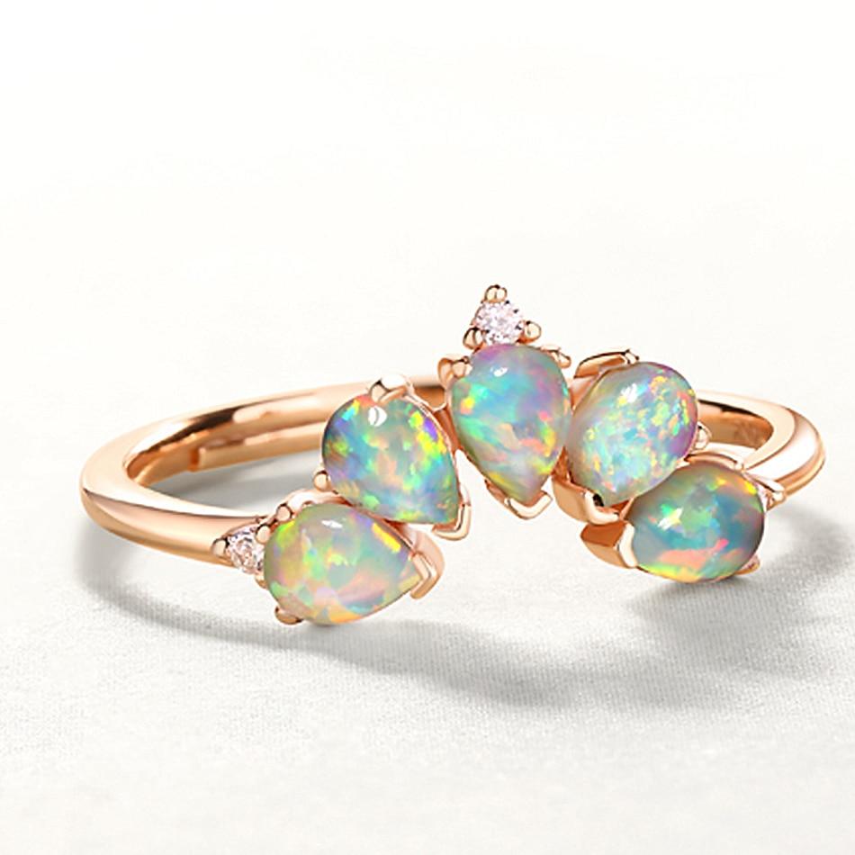 ALLNOEL 2019 Real 925 Sterling Silver Ring For Women 100% Natural Rose Quartz Blue Topaz Labradorite Gemstone Stack Fine Jewelry (10)