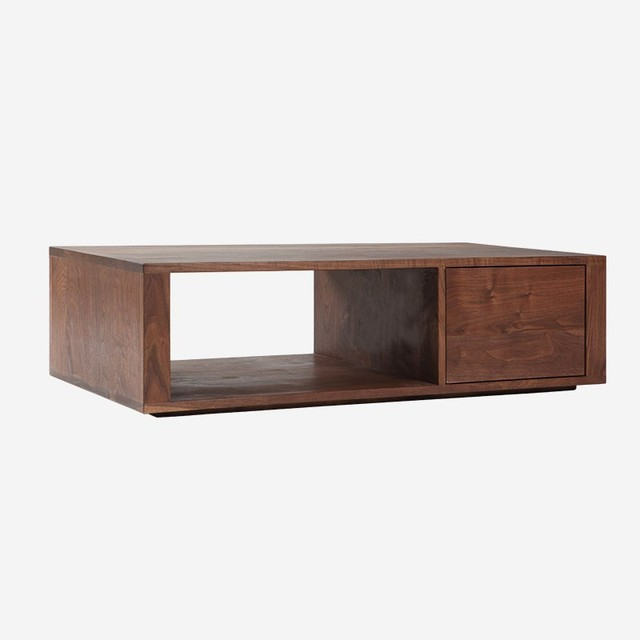 Simple Solid Wood Furniture Walnut Coffee Table Rectangle Pure Real Tea Teapoy Side End