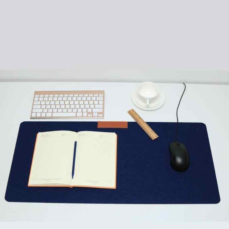 700*330mm duży komputer biurowy podkład na biurko nowoczesna stołowa klawiatura podkładka pod mysz wełna filc Laptop poduszka podkład na biurko Gamer podkładka pod mysz