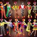 Vacaciones variedad divertido payaso trajes de navidad para adultos mujer/hombre joker traje cospaly party dress up payaso traje ropa costum