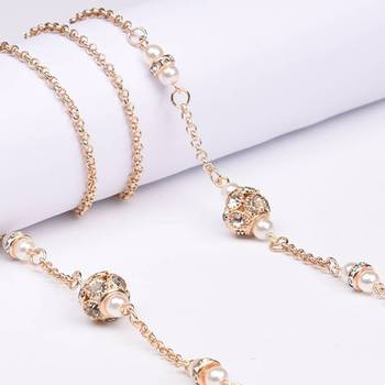 Luxury Pearl beads Eye Glasses Lanyard Sunglasses Spectacles Chain Cord Holder Strap Crystal Eyewear String Accessories