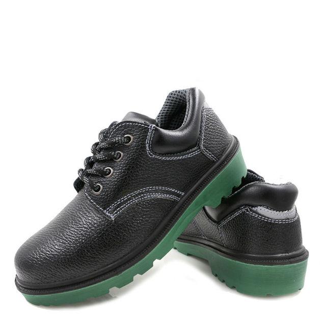 AC13014 Güvenlik Ayakkabıları Erkekler PU Deri Kauçuk Güvenlik Botları Çalışma Güvenliği ShoeSafety Ayakkabı Erkekler Için Çelik Ayak Ağır Sneakers