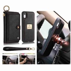Image 3 - Purse Wristlet Phone Case For coque iphone 11 Pro X Xr Xs Max 6 6s 7 8 Plus Se 2020 Apple Funda Etui Luxury Leather Phone Cover