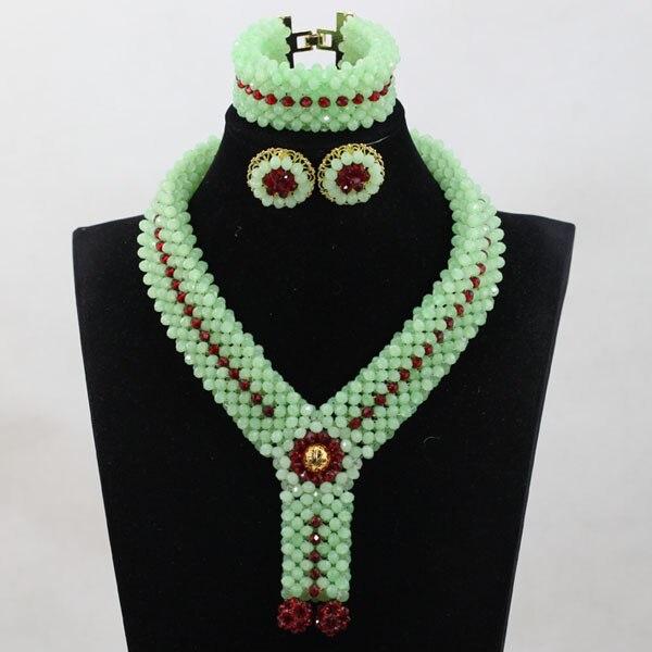 Romantic Light Green Crystal Bold Statement Jewelry Set Fashion Rhinestone Jewelry Bridal Jewelry Free Shippin HEB046 rhinestone alloy hollowed jewelry set
