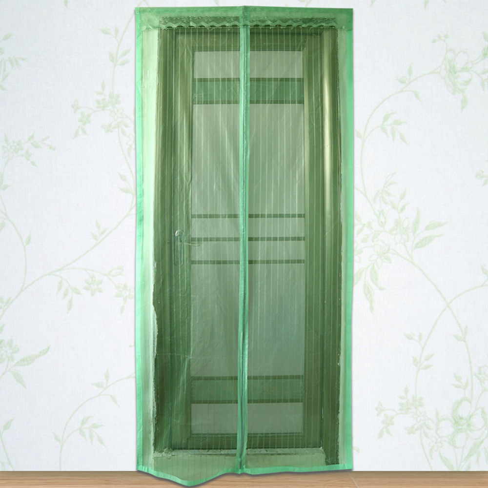 1pc durable magnetic curtains mesh screen door mosquito for Window mesh screen