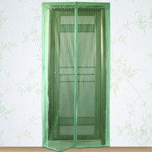 1 UNID Durable Cortinas Magnéticas Puerta Mosquitera De Malla Mosquitera Cortina de Pantalla Proteger Cocina Ventana de Organza 4 Colores