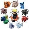 11 pièces/lot Naruto Uzumaki bêtes à queue Shukaku Gyuki Kurama Isobu fils Goku Kokuo Saiken Chomei Shinju figurine jouets WX168