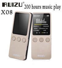 "Ruizu X08 1.8"" 8GB MP3 Player Support Lossless Digital Mp3 Music Player with Built-in Speaker FM Support 64GB Micro SD TF Card(China)"