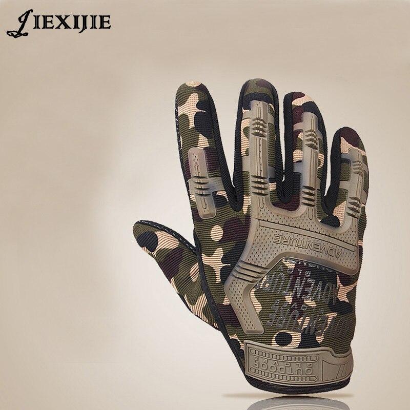 Guantes tácticos guantes del ejército del dedo completo antideslizante guantes de microfibra para hombres para prevenir el desgaste resbaladizo-resistente jxj-145