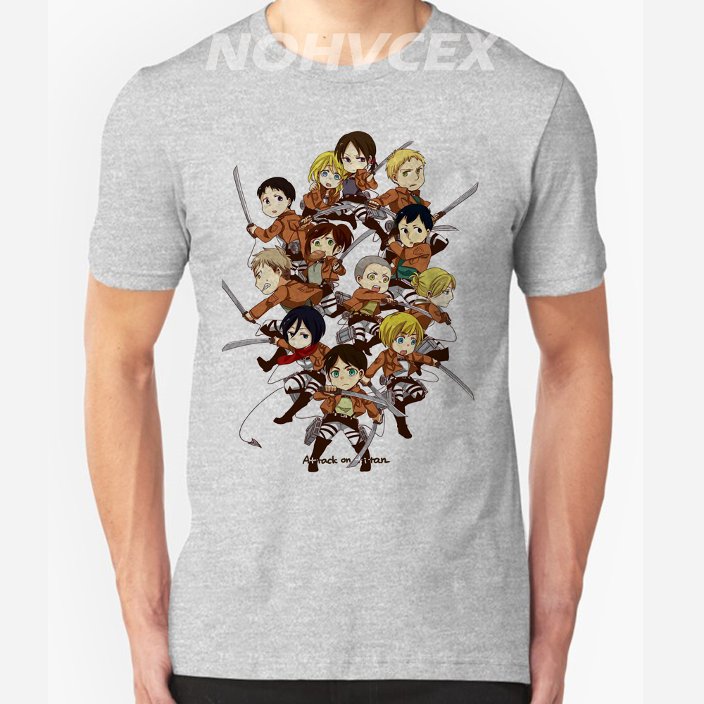 anime costume Leisure 100/% cotton T-shirt Shingeki no Kyojin Scout Legion