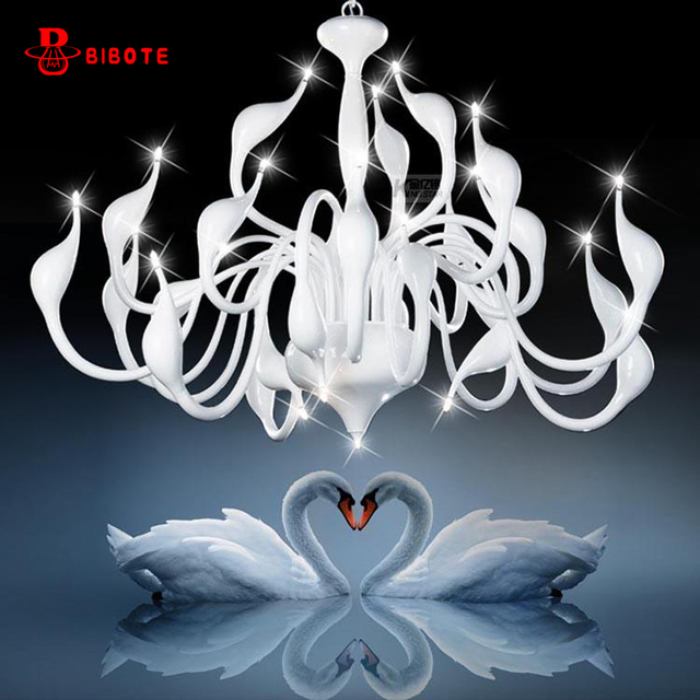 Modern Led Swan Chandelier Lighting With G4 Led Bulb Chandeliers For Living Room Bedroom Nordic Design Wrought Iron Chandelier
