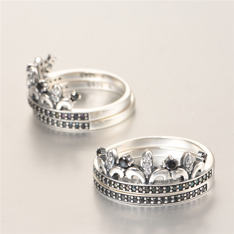 Joyeria Marcas Famosas 925 Sterling Silver Crown Ring Pave Cubic Zirconia Wedding Rings For Men And Women Party Ripy085 In From Jewelry