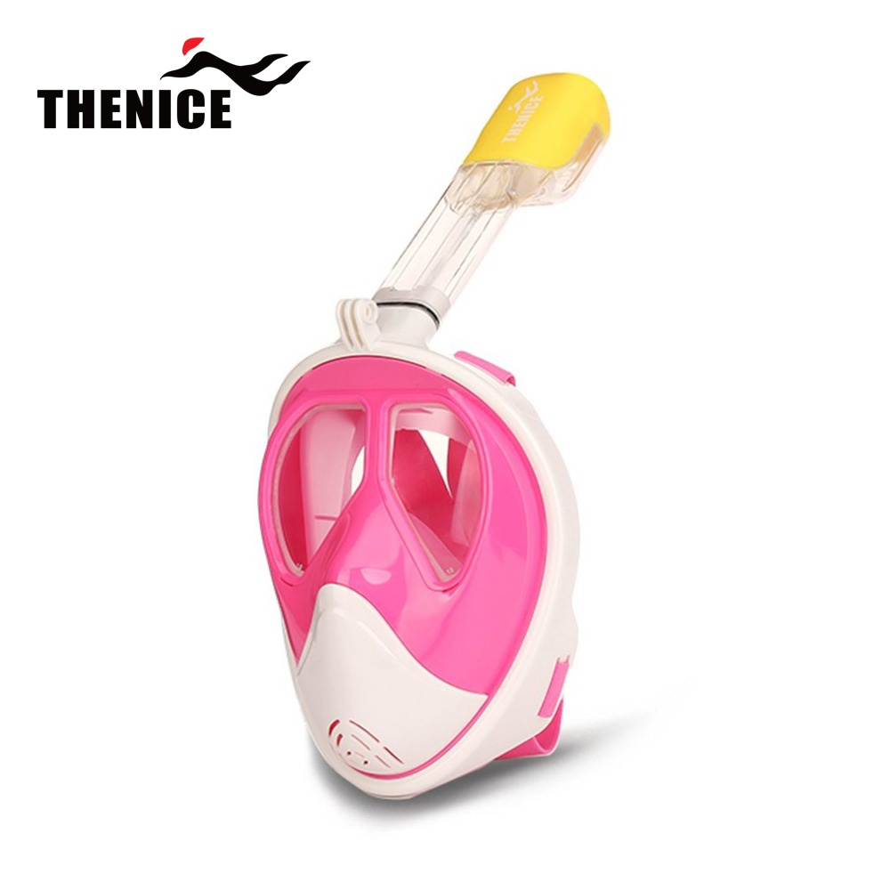 THENICE Pink Optical Goggle Mask Myopia Diving Scuba Mask Snorkeling Equipment Swimming For Nearsighted With Breathing Tube цена и фото