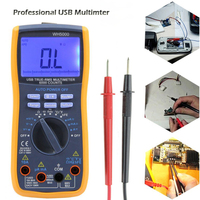 WH5000 Digital Multimeter 5999 Counts with USB Interface Auto Range with Backlight Magnet hang AC DC Ammeter Voltmeter Ohm