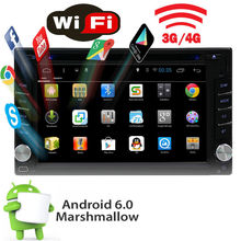 """6.2"""" Double 2Din autoradio Android 6.0 Quad Core Car DVD Player automagnitol Stereo Radio GPS in dash support Wifi 4G OBD DVR"""