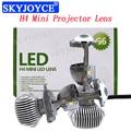 Mini Bi LED H4 Projector Lens 35W H4 Hi/Lo Beam LED Headlight Bulb 5500K White Auto Car 70W LHD RHD H4 Bixenon Projector Lens