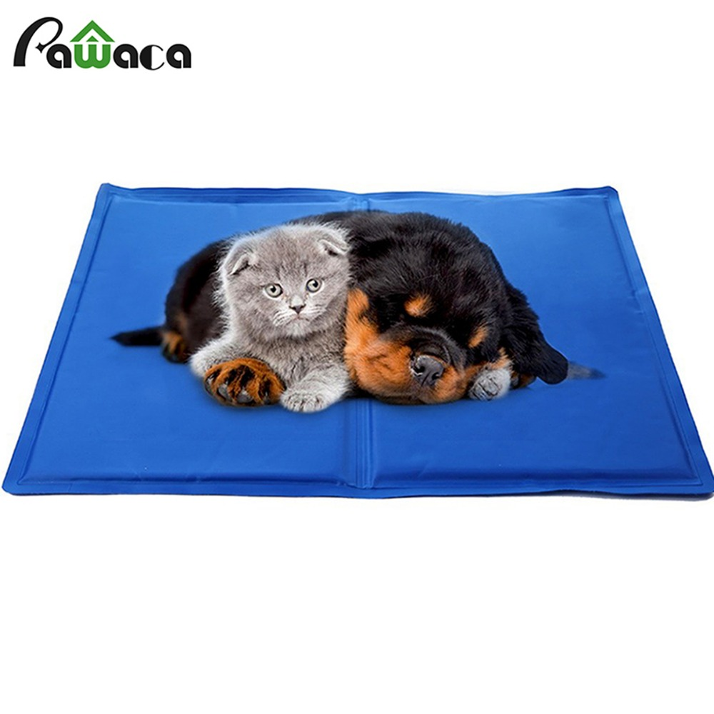 portable pet cool mat blue ice pad self cooling pvc nontoxic gel mat house