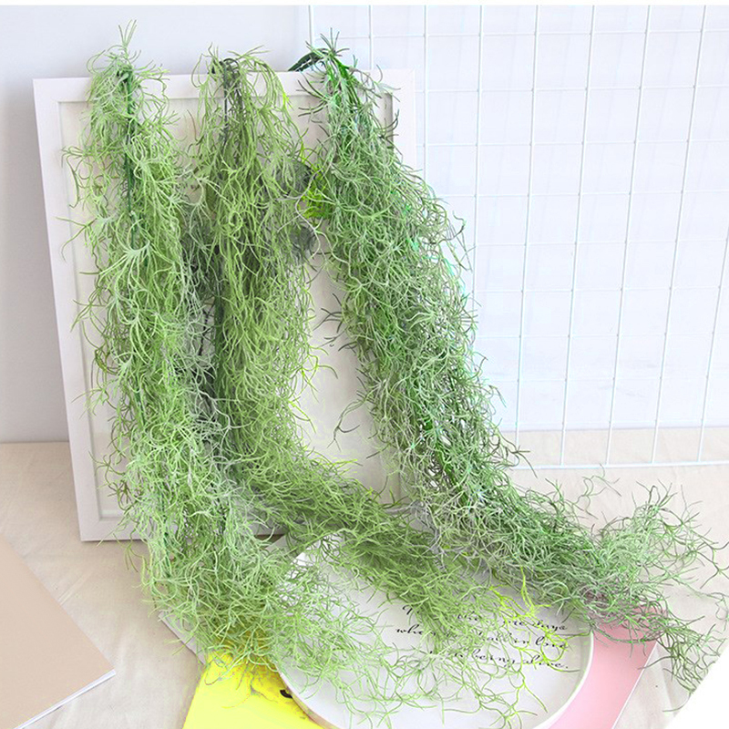 65cm Artificial Plant Party Wedding Vine Outdoor Foliage 11 Heads Green Silk Flower Simulation Hanging Home Balcony Wall Decor