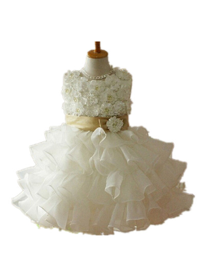 BABY WOW Newborn Baby Girl Dress Baby Clothes Flower Girl Dresses First Communion Dresses for Girls