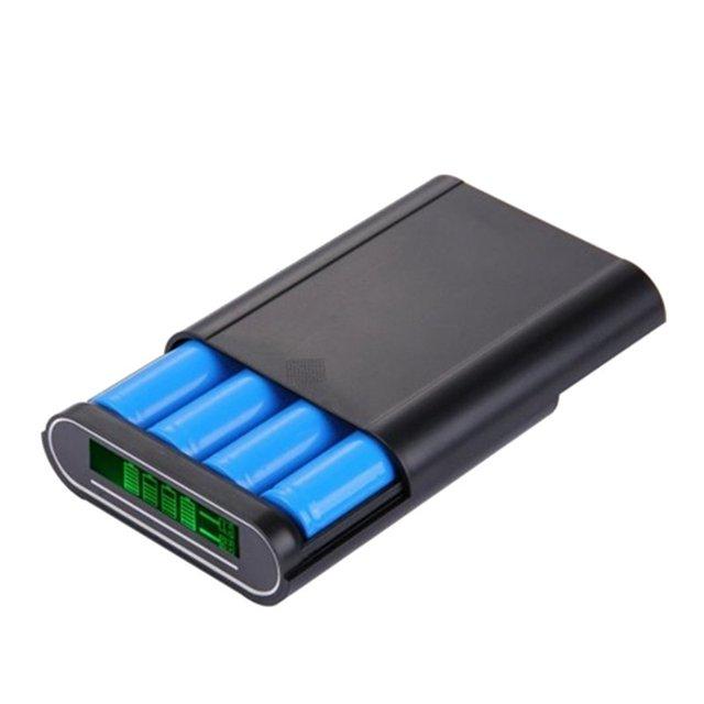 Caixa portátil 18650 baterias estação de carregamento power bank caso diy poder de carregamento para samsung para xiaomi telefones celulares