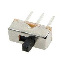 THGS 50 Pcs SS12D00G3 2 Position SPDT 1P2T 3 Pin PCB Panel Mini Vertical Slide Switch
