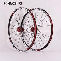 1600g Super Light FOXRACE F2 MTB Bike Alloy Wheelset AL 6061 HUBS 120ring 24 Spoke Bicycle