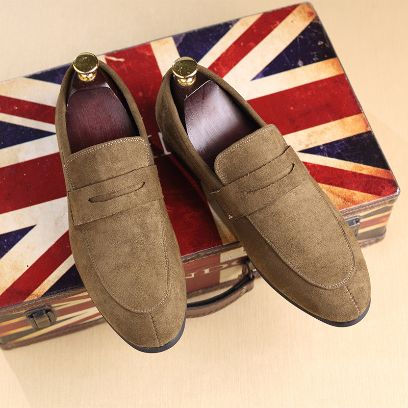 New Slip On Men Shoes Classic Suede Leather Loafers for Man Summer Footwear Breathable Casual Breathable Men Flat Shoes Delocrd