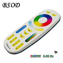 BSOD Milight LED Remote Controller 4-zones RGBWW+CCT RF 2.4G Wireless Touch Screen 30m Distance