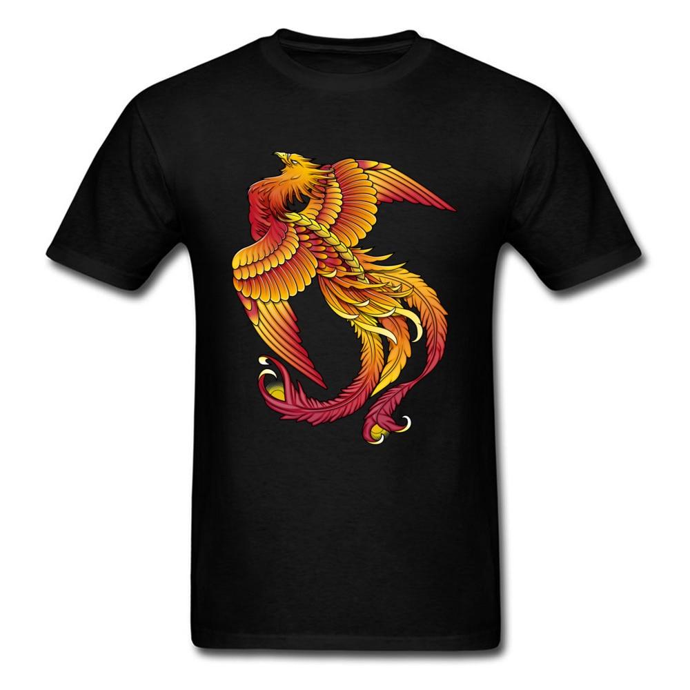 Fire Bird Tshirt Men T Shirts Phoenix Print T-shirt Family Summer O-Neck 100% Cotton Tops & Tees Casual Clothes Free Shipping