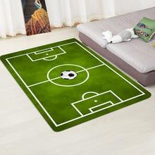 Children Football Soccer Field Living Room Area Rugs Flannel Carpet Boys Play Crawl Kitchen Door Mat Bathmat Floor Mats 40x60cm