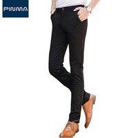 Casual Pantalones Chinos Men Suit Pant Elastic Slim Fit Fashion Brand Long Business Dress Wedding Trousers