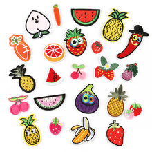 Fruit Vegetable Embroidery Pineapple Watermelon Embroidery Cloth Sticking Apparel Accessories Iron Patches for Clothing(China)