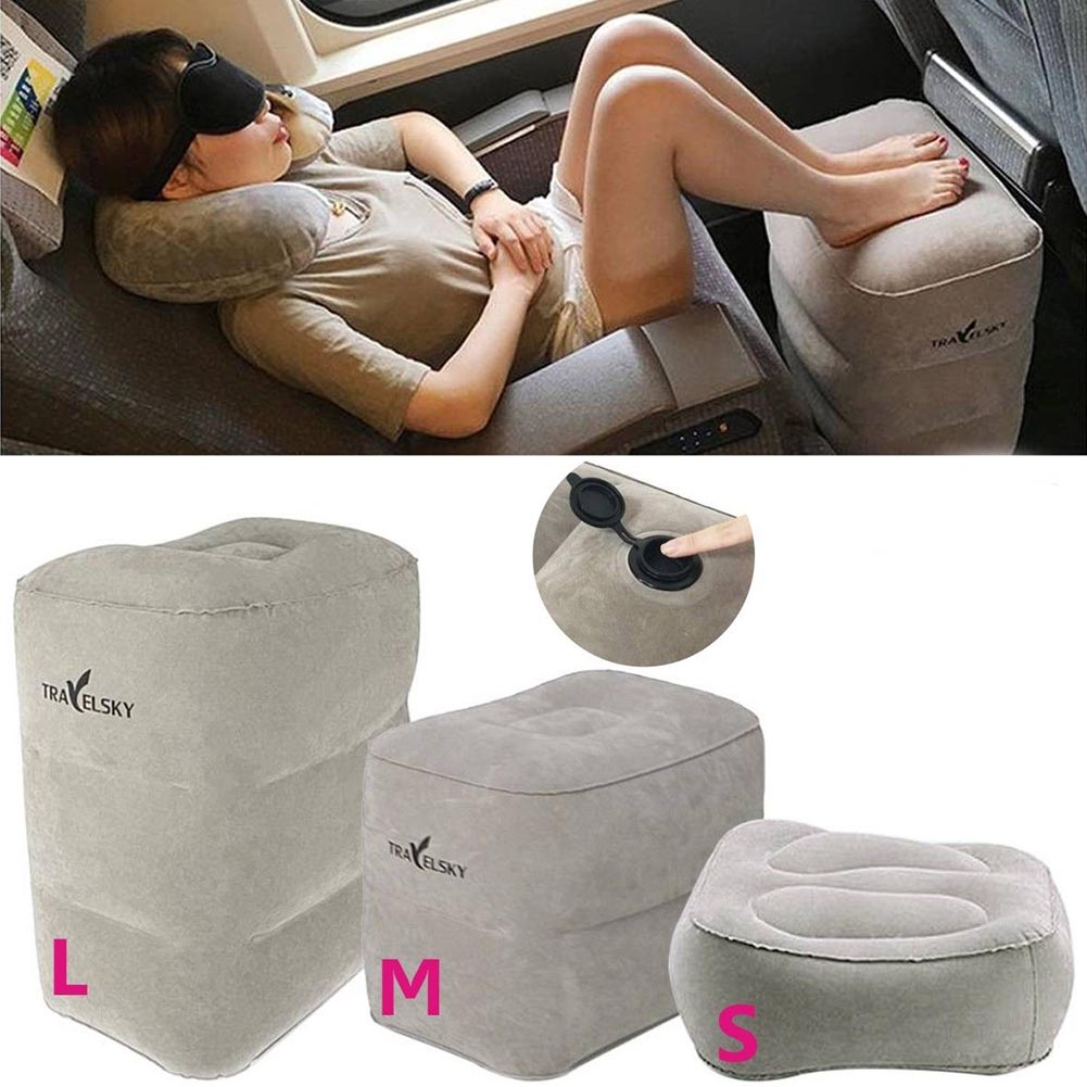 High Quality Portable Inflatable Travel Footrest Pillow Foot Leg Rest For Airplanes Kids Bed Outdoor Car Driving Camping Tools