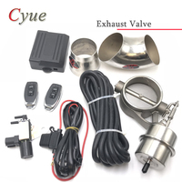 Ensemble de soupape de contrôle d'échappement de voiture avec actionneur de vide découpe tuyau Style fermé avec télécommande sans fil