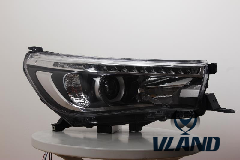 Free shipping for China VLAND car Head lamp for Toyota Revo headlight 2016 2017 Hilux LED headlight Vigo DRL H7 Xenon lamp free shipping hilux racing side stripe graphic vinyl sticker for toyota hilux first impressions