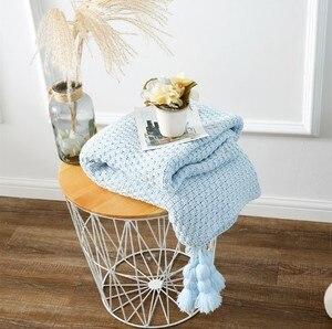 Image 5 - CAMMITEVER Baumwolle Decke Winter Warme Heimgebrauch Decken für Erwachsene Europäischen Gehäkelte Decke für Bett Sofa Werfen Teppich