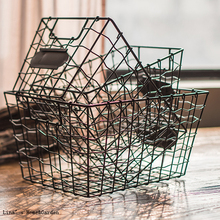 huge discount a6f4c a5dce label vintage industrial tapered metal cheap wire baskets