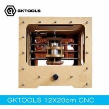 GKTOOLS 20 cm x 12 cm DIY Desktop CNC Graviermaschine CNC Mini Maschine Erleichterung PCB Zwei Farbe Platten geschnitzte Offline