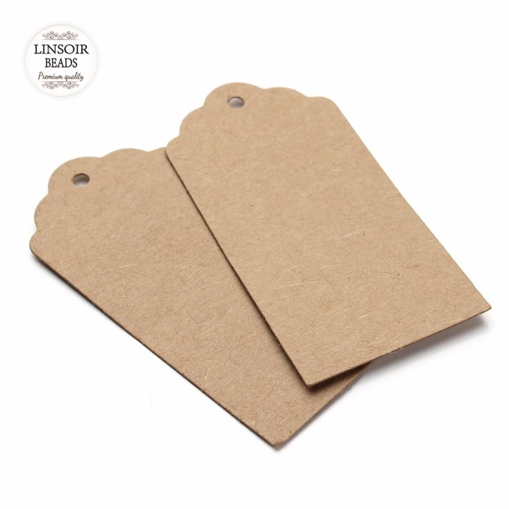 100pcs/lot(40*95mm no string) blank Kraft Paper Tags Label Luggage Wedding Note DIY Hang tag Kraft Gift F2754