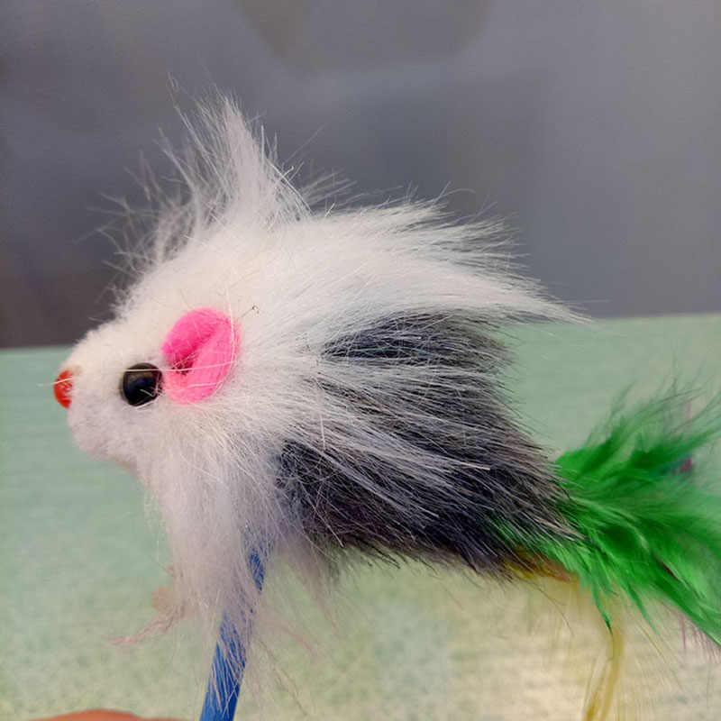 1pc 새로운 도착 내구성 애완 동물 고양이 장난감 미미 좋아하는 모피 마우스 텀블러 고양이 고양이 장난감 플라스틱 놀이 공 캐치 고양이 용품