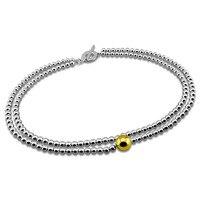 Moda doppio perla rotonda collana pendente in argento. Solid 925 argento 12mm/48 cm/55 grammi/personalità donna collana in argento.
