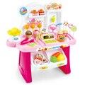 Crianças Brinquedo Mini carro de Compra de Supermercado Caixa Registradora Checkout Juguetes Brinquedo Pretend Play House Simulação De Plástico Em Miniatura Briquedos