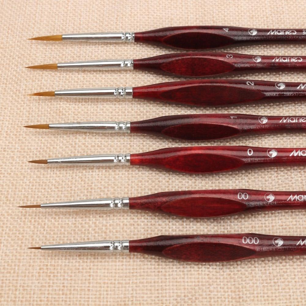 7Pcs Paint Brush Set Professional Sable Hair Art Nail Painting Drawing Brushes Art Painting Brush Pen(China)