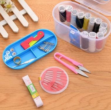 Multi Functional Treasure Chest Sewing Thread Needle Box Home Necessities Sewing Kit Boutique Package Travel Plastic Sewing Kit