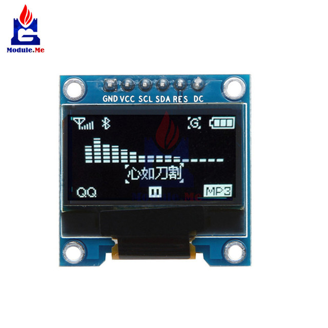 US $2 49 6% OFF|0 96 Inch 6Pin IIC I2C SPI OLED White LCD Display Module  12864 Interface 0 96