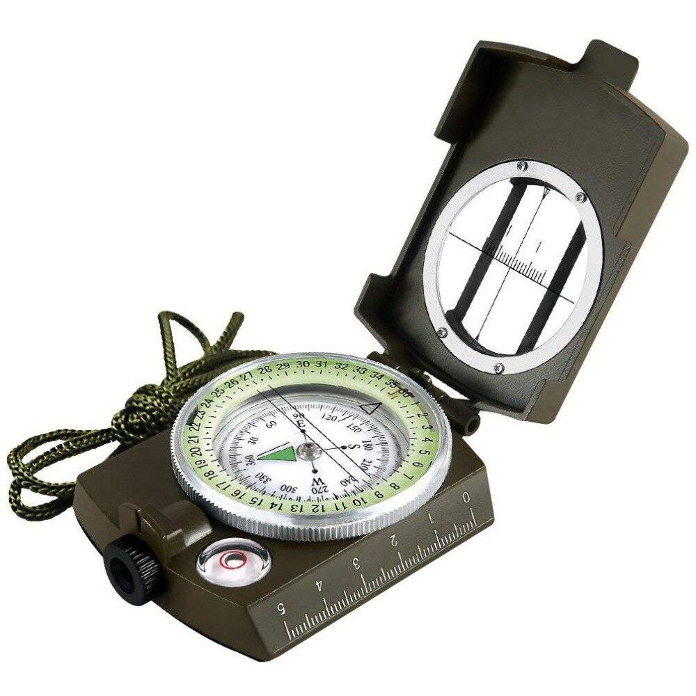 Кемпинг выживания компас военный Прицельный световой водонепроницаемый компас геологический цифровой компас Уличное оборудование навига...